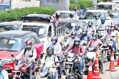 شہر میں گاڑیوں کی تعداد میں تیزی سے اضافہ